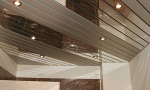 Реечные потолки для ванной комнаты: виды, особенности монтажа