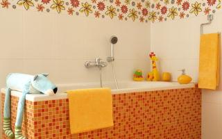5 красочных и веселых идей для детской ванной комнаты