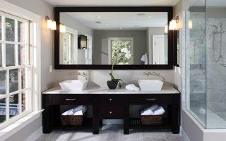 Как выбрать и повесить зеркало в ванною