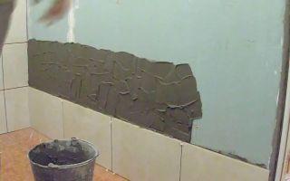 Укладка плитки в ванной на гипсокартон