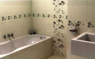 Плитка для ванной комнаты: материалы и размеры