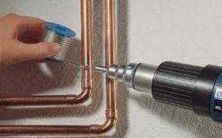 Монтаж водопровода из медных труб
