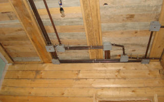 Проводка электричества в деревянном доме