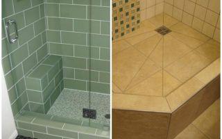 Как сделать в ванной комнате душевой уголок без поддона — 7 видео