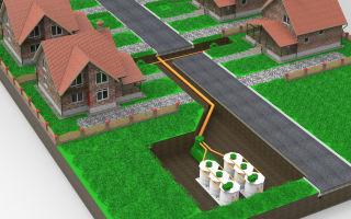 Канализация коттеджного поселка