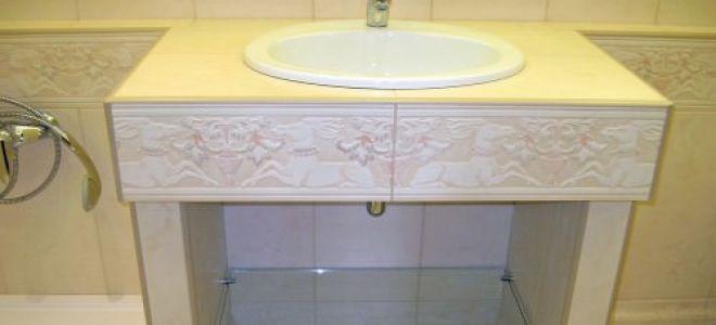 Столешница из гипсокартона в ванной