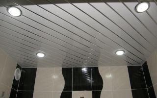 Реечный потолок для ванной своими руками
