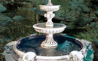 Как сделать фонтан из бетона