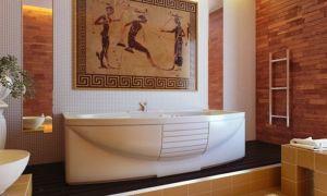 Коричневая ванная