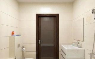 Установка двери в ванную комнату