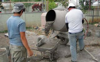 Изготовление бетона: соотношение материалов
