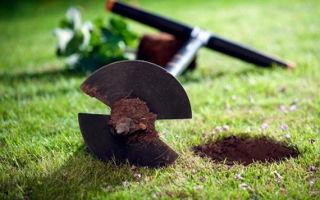 Как пробурить яму под столб