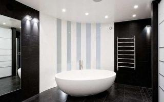 Дизайн современной черно-белой ванны: идиллия контрастов