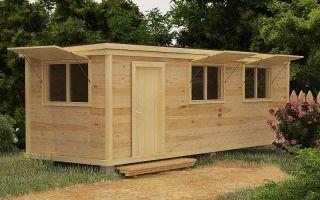 Как выбрать деревянную бытовку для дачи