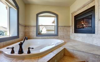 Теплые идеи для ванных комнат