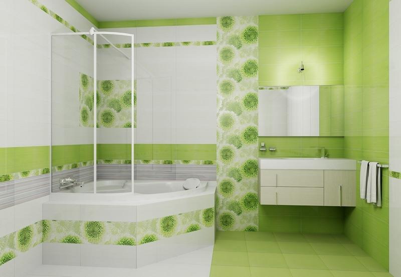 Керамическая плитка для ванной - фото (29)