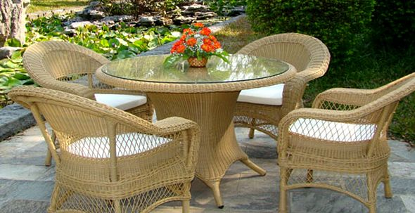 Плетеная-мебель-для-сада