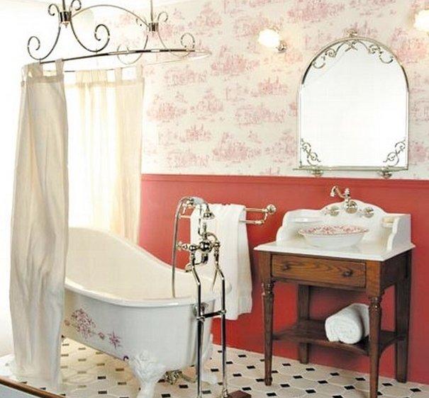 стиль ретро в ванной