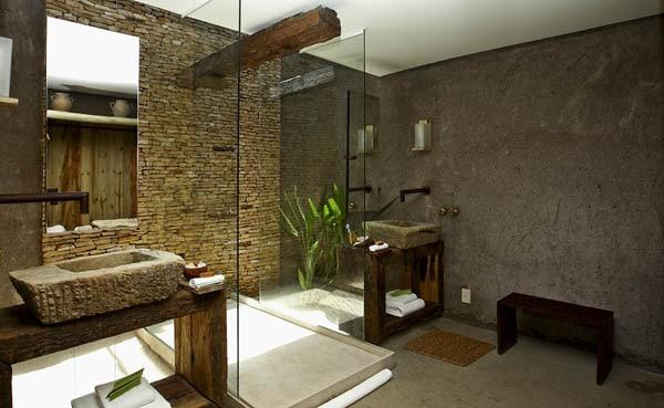 эко стиль в ванной