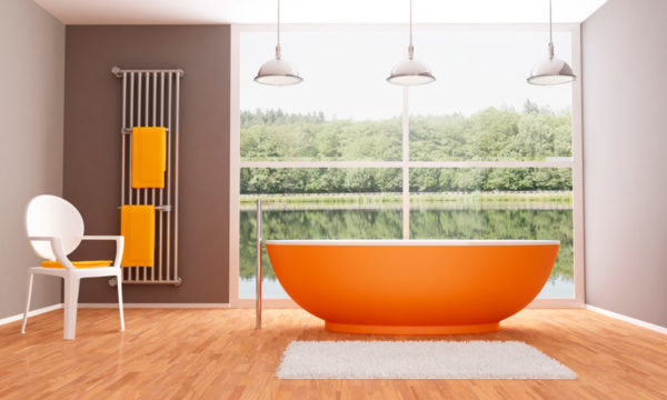 оранжевая ванна