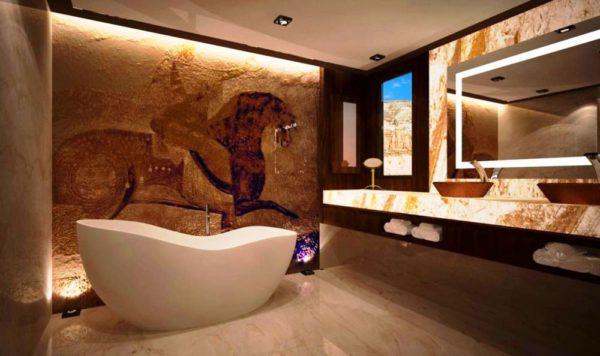 ванна в африканском стиле