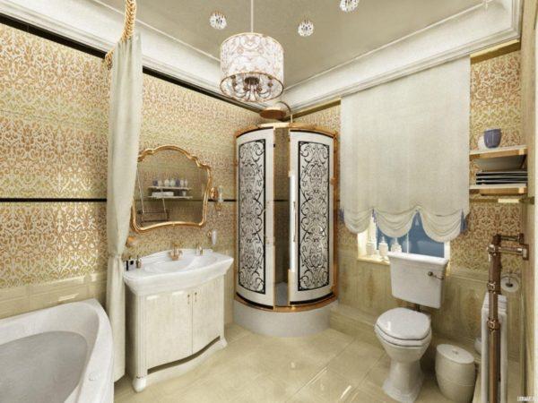 рококо в ванной