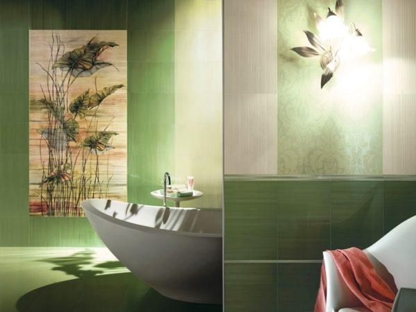 Керамическая плитка для ванной - фото (63)