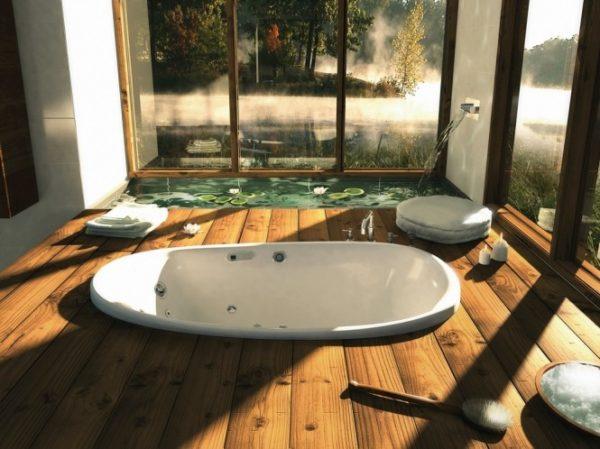 ванна с видом на природу