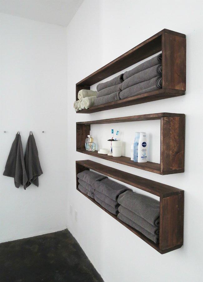 16 идей полок для ванной комнаты