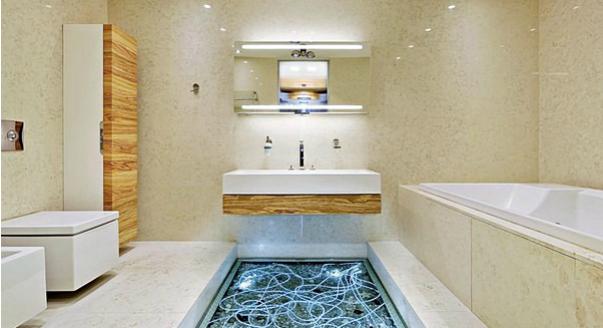 Варианты отделки пола в ванной комнате