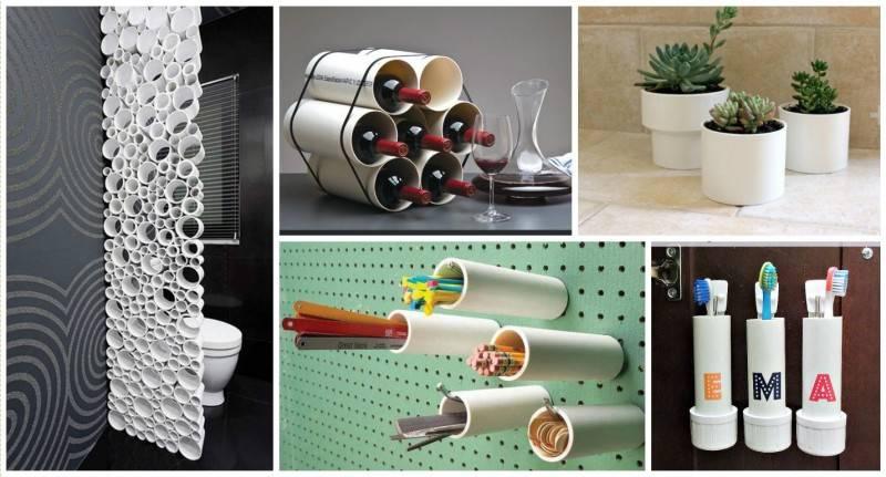 5 творческих вариантов использования трубы из ПВХ в ванной комнате