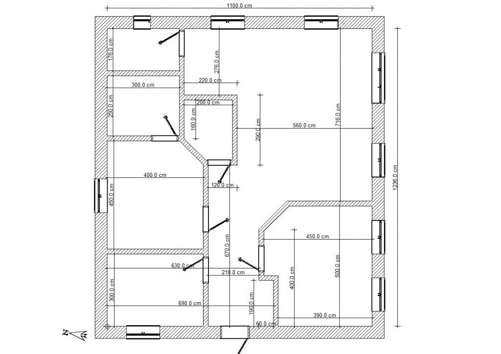Планировка дома 12x12