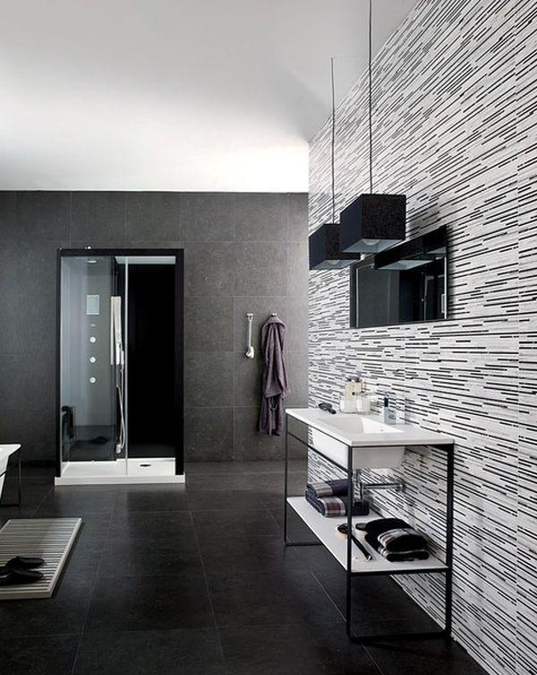 Использование черного цвета в ванной комнате (9 фото)