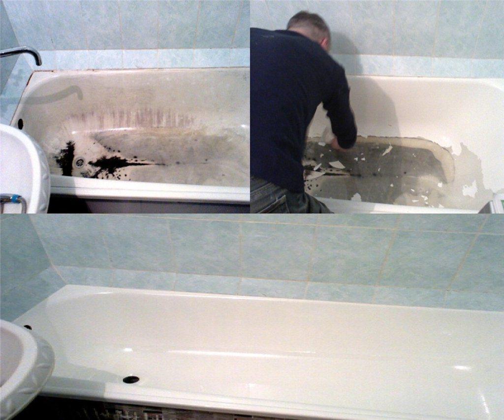 Как восстановить эмаль ванны своими руками