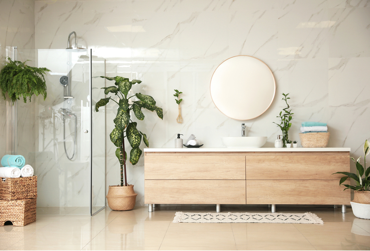 Тропические ванные комнаты