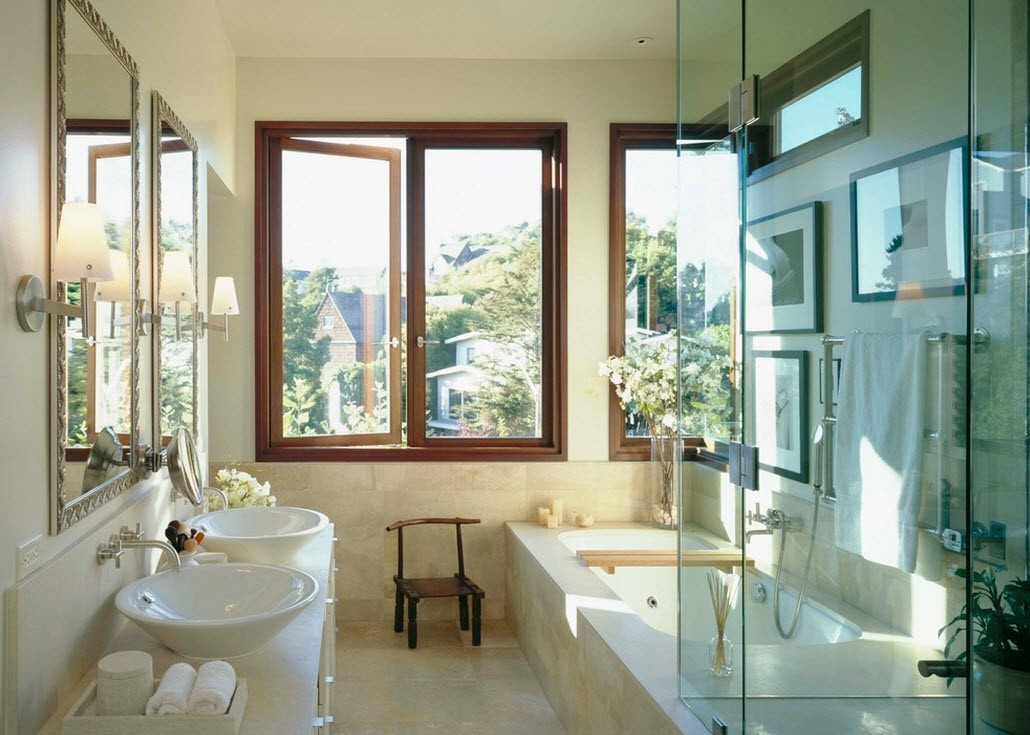Установка окон в ванной комнате