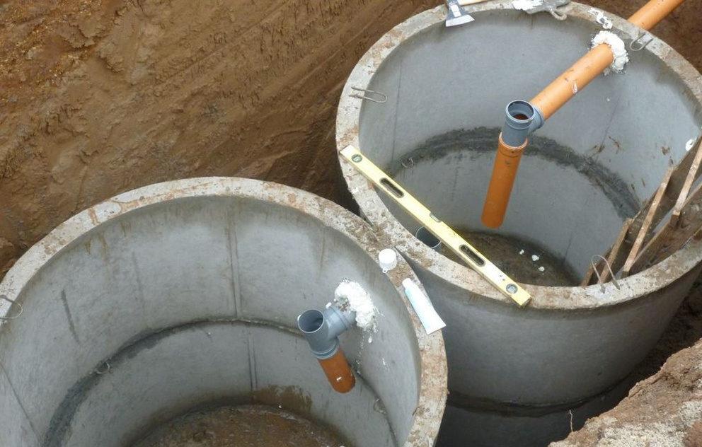 Устройство септика из бетонных колец для частного дома