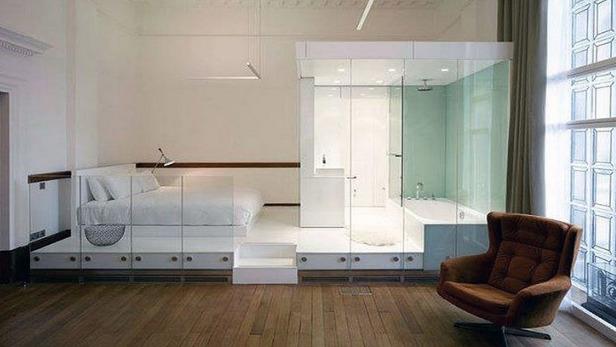 Ванные комнаты открытой планировки
