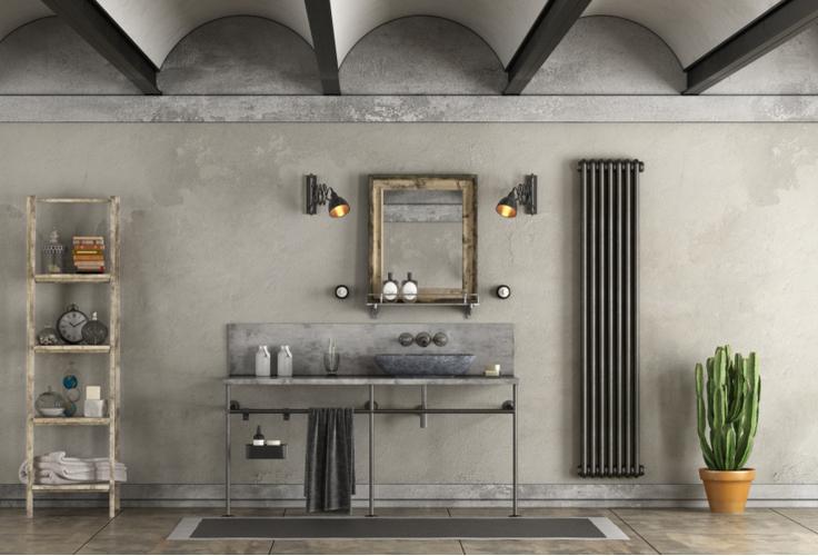 Ванные комнаты в индустриальном стиле