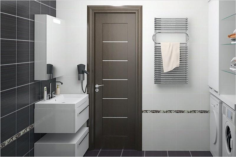 Как установить дверь в ванной?