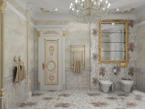 Лепнина в стиле ванной комнаты