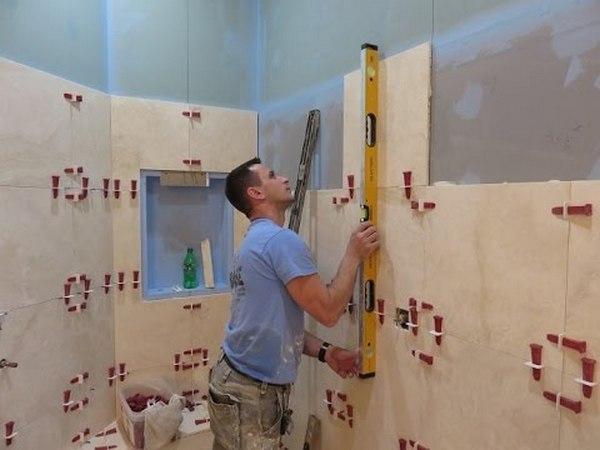 Подготовка стен под плитку в ванной
